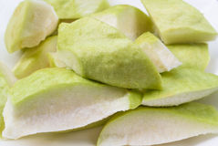 Fresh cut piece green guava Royalty Free Stock Photo