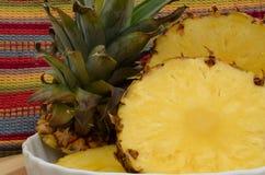 Fresh cut pineapple Stock Images