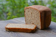 Fresh cut rye bread Stock Photo