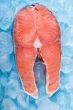 Fresh cut Salmon steaks Stock Photos