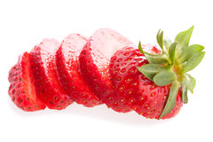 Fresh cut strawberry Stock Photo