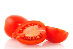Fresh cut tomatoes Stock Photography