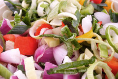 Fresh cut vegetables Stock Image