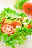 Fresh cut vegetables Stock Images