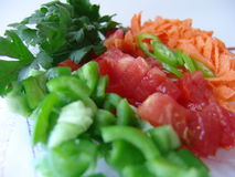 Fresh cut vegetables. It is very healthy to eat fresh cut vegetables on a diet Stock Images