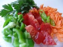 Fresh cut vegetables royalty free stock image