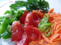 Fresh cut vegetables. It is very healthy to eat fresh cut vegetables on a diet Stock Photo