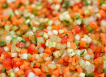 Fresh cut vegetables royalty free stock images