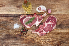 Fresh cutlets of pork iberico Royalty Free Stock Photography
