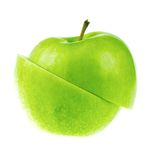 A fresh cutted apple Stock Photo