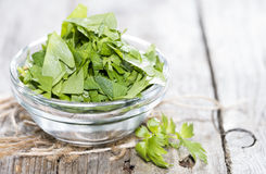 Fresh cutted Lovage Stock Photo