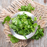Fresh cutted Parsley. Some fresh cutted Parsley (detailes close-up shot Stock Photo