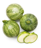Fresh cutted zucchini isolated on a white background Stock Image