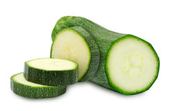 Fresh cutted zucchini Royalty Free Stock Image