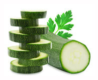 Fresh cutted zucchini and parsley Royalty Free Stock Photos