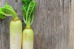 Fresh Daikon radish Stock Photo