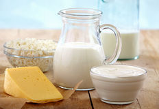 Fresh dairy products Royalty Free Stock Photography