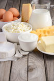Fresh dairy products. royalty free stock photography