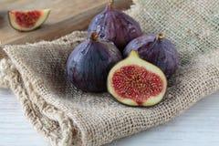 Fresh dark figs Royalty Free Stock Photo