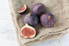 Fresh dark figs Royalty Free Stock Image