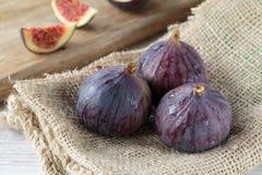 Fresh dark figs Stock Photos