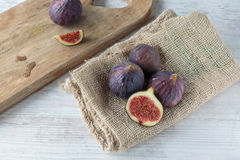 Fresh dark figs Stock Photography