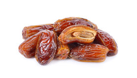 Fresh dates over white background Stock Photos