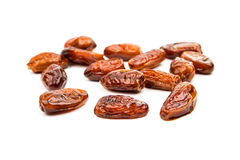 Fresh dates over white Stock Photography