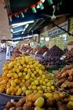 Fresh dates at a vegetable market Stock Photos