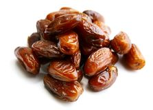 Fresh dates on white background Royalty Free Stock Images