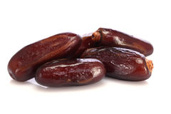 Fresh dates  on white Royalty Free Stock Photos