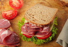 Fresh deli sandwich Royalty Free Stock Image