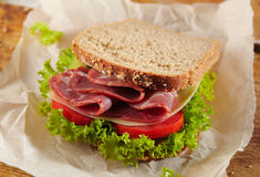 Fresh deli sandwich Royalty Free Stock Images