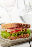 Fresh deli sandwich Royalty Free Stock Photography