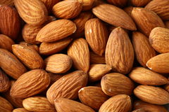 Fresh delicious almonds Stock Images