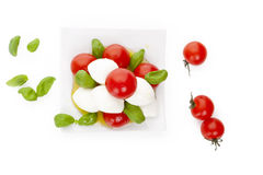 Fresh delicious caprese. Stock Photos