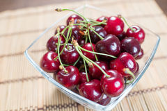 Fresh delicious cherries Stock Photo