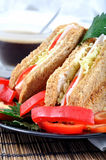 Fresh and delicious classic club sandwich Royalty Free Stock Photography