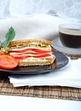 Fresh and delicious classic sandwich Royalty Free Stock Images