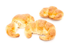Fresh delicious croissant isolated. White background Stock Photography