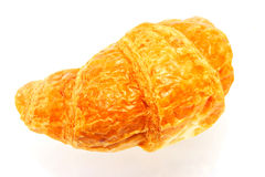 Croissant isolated over white background. Fresh delicious croissant isolated over white background Stock Photography
