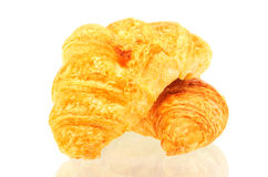 Croissant isolated over white background. Fresh delicious croissant isolated over white background Stock Photo