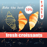 Fresh and delicious croissants Stock Photography
