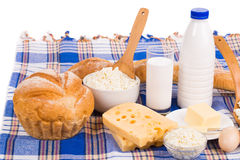 Fresh and delicious dairy products Royalty Free Stock Photography