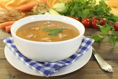 Fresh delicious duck soup Royalty Free Stock Photos