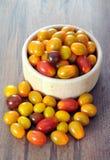 Fresh and delicious grape tomato Stock Photos