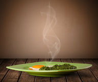 Fresh delicious home cooked food with steam Stock Photography