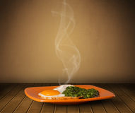 Fresh delicious home cooked food with steam Royalty Free Stock Photo