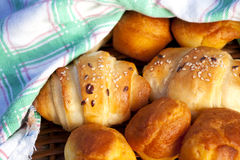 fresh and delicious homemade rolls royalty free stock photography