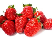 Fresh and delicious  juicy strawberries royalty free stock photo